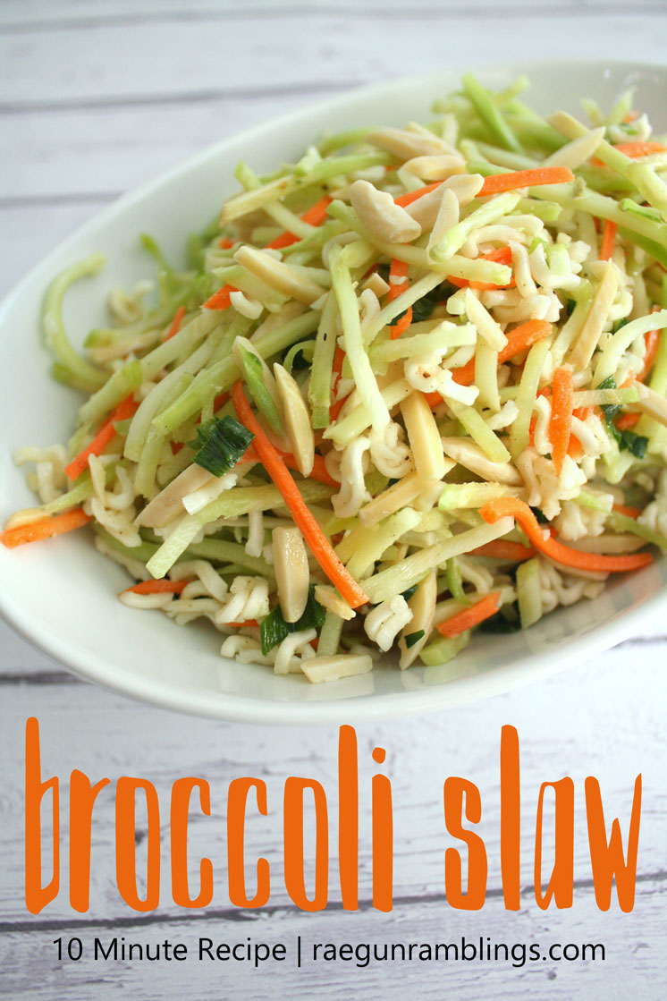 My new favorite healthy side dish. This is perfect for a light lunch or vegetable companion to chicken dinner. Great broccoli slaw recipe