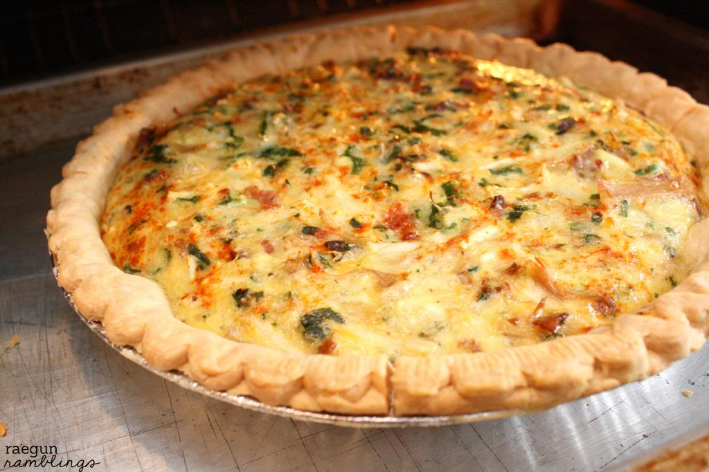 turkey bacon quiche. perfect for Thanksgiving leftovers