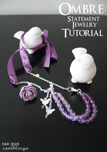 DIY statement jewelry tutorial at Rae Gun Ramblings