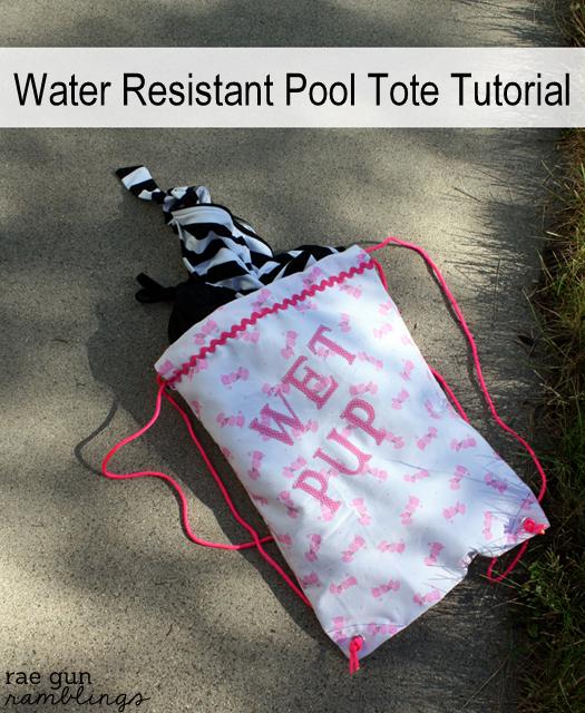 Water resistant pool tote tutorial - Rae Gun Ramblings