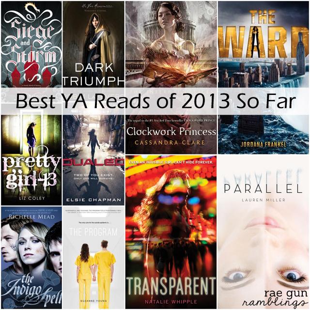 best ya reads of 2013 - rae gun ramblings