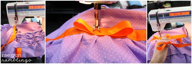 Instructions for a DIY fancy nancy dress lots of pictures - Rae Gun Ramblings #sewing #costume #halloween #fancynancy