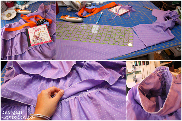 Fancy Nancy Dress Tutorial step by step instructions - Rae Gun Ramblings #fancynancy #diy #costume