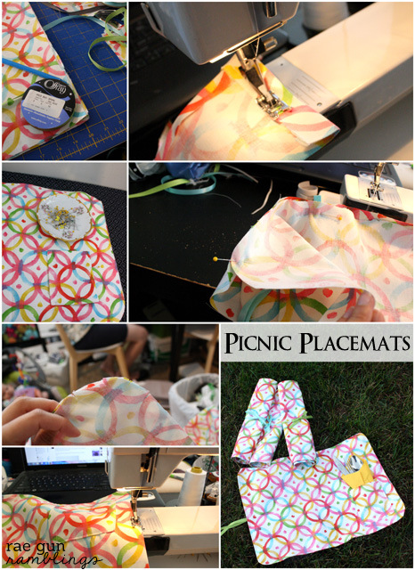 Step by step instructions on how to make picnic placemats - Rae Gun Ramblings