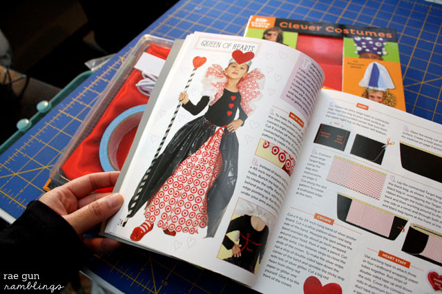 Queen of Hearts costume from Target bags. Clever Costumes Book - Rae Gun Ramblings