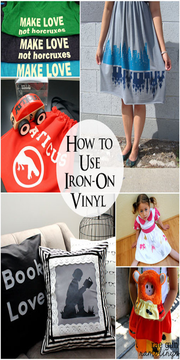 How to use iron-on vinyl awesome tips tricks and projects for using heat transfer vinyl great for working with Cricut machines