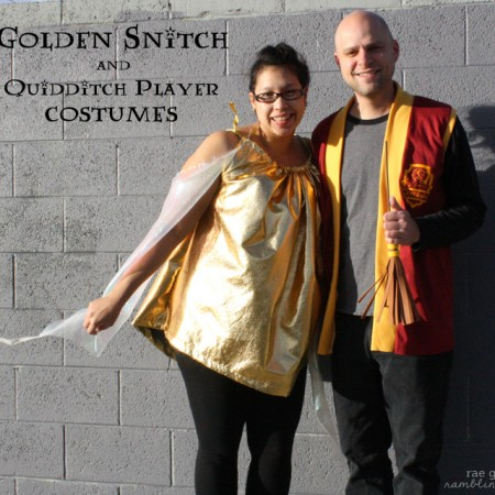 Harry Potter Golden Snitch and Quidditch Player costumes at Rae Gun Ramblings