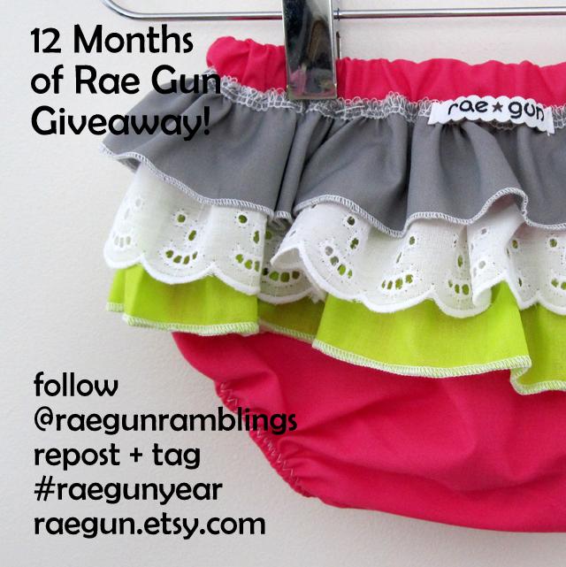 12 Months of Rae Gun Baby Clothes Giveaway - raegun.etsy.com