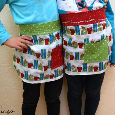 Free Kid's Apron Sewing Pattern and Tutorial