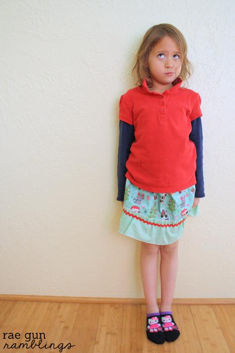 Easy Ruffle Girl Skirts Tutorial - Rae Gun Ramblings