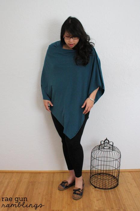 Knit shawl style nursing cover - Rae Gun Ramblings
