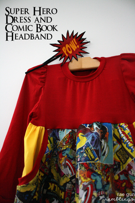 Super Hero Dress and Pow! Headband Tutorial - Rae Gun Ramblings