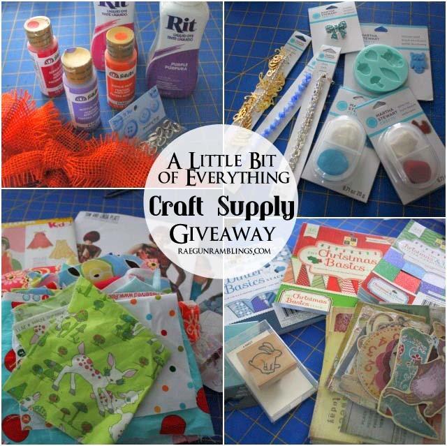 Giveaway full of crafting supplies at Rae Gun Ramblings