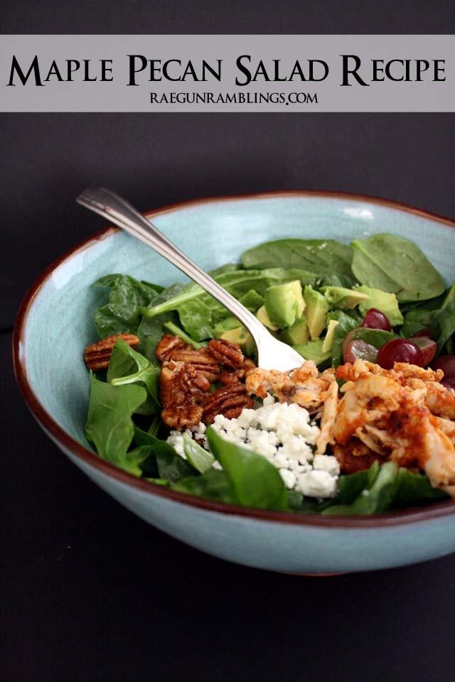 Maple Pecan Salad Recipe - Rae GUn Ramblings