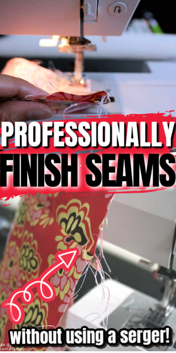 Great trick to professionally finishing seams like a pro on a regular sewing machine. No serger required.
