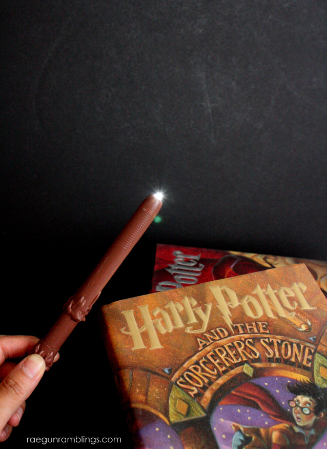 DIY Lumos Harry Potter Wand. Quick tutorial for a wand that really lights up. Rae Gun Ramblings