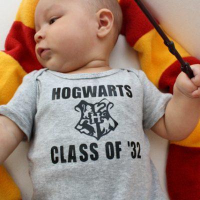 Hogwarts Class of Baby Onesie Tutorial