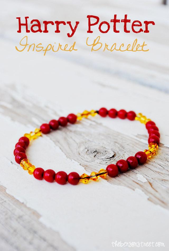 Harry Potter inspired Gryffindor bracelet