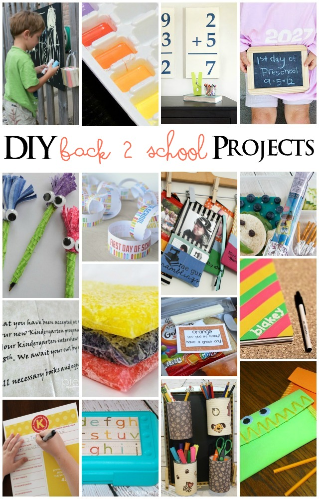 Tons of great DIY Back to school projects - Rae Gun Ramblings