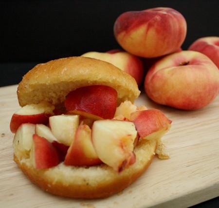 Peach filled Donuts just like the famous Donut Man recipe at Rae Gun Ramblings