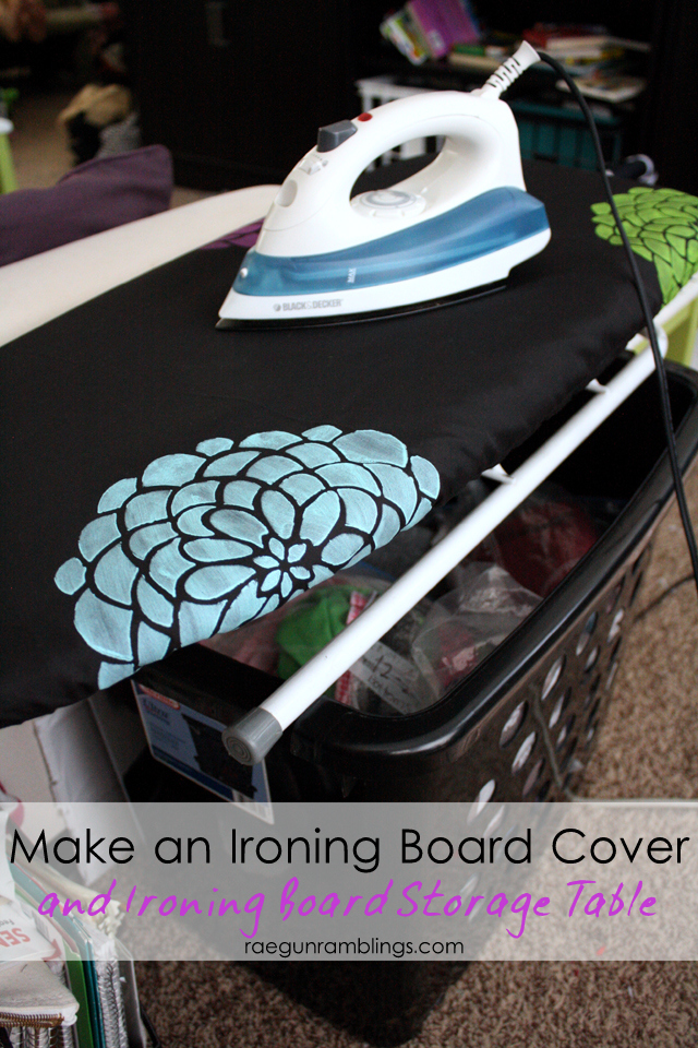 Great idea for extra storage, a table top surface, plus an ironing board. WOuld be great for a craft room. Rae Gun Ramblings