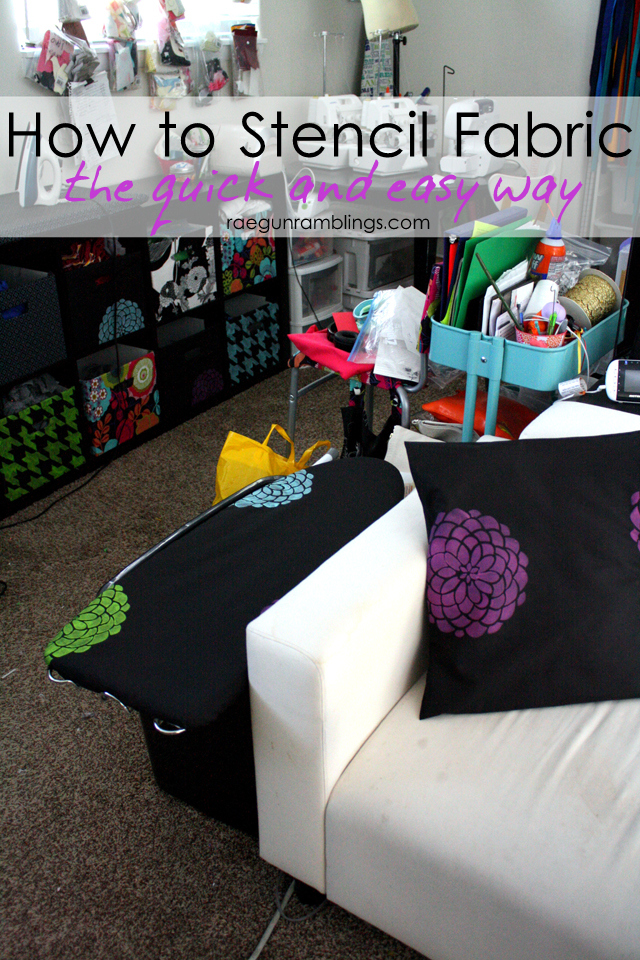 Great tutorial on how to stencil fabric and the best fabric paint to use - Rae Gun Ramblings