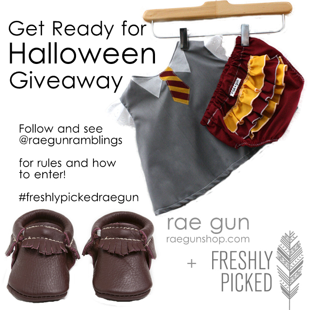 Freshly Picked Moccasins and Rae Gun Baby Harry Potter Costume