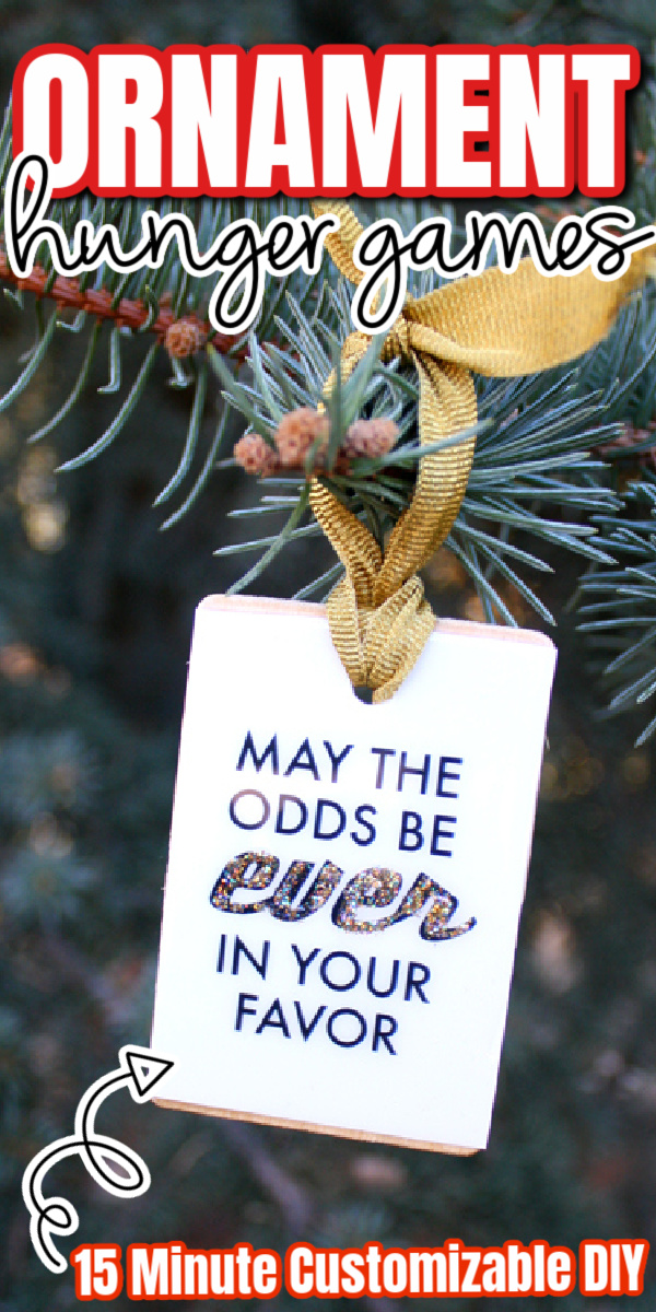 May the Odds be Ever In Your Favor DIY Christmas Ornament tutorial