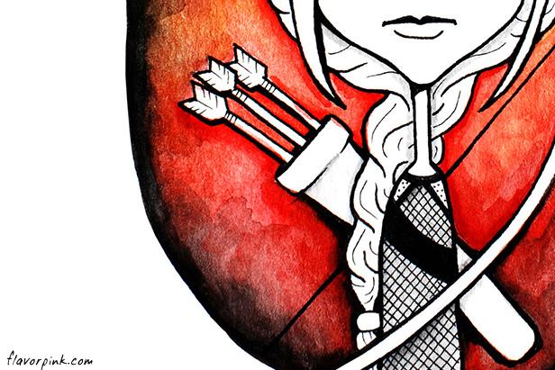 Sneak peek at Katniss Doodle art