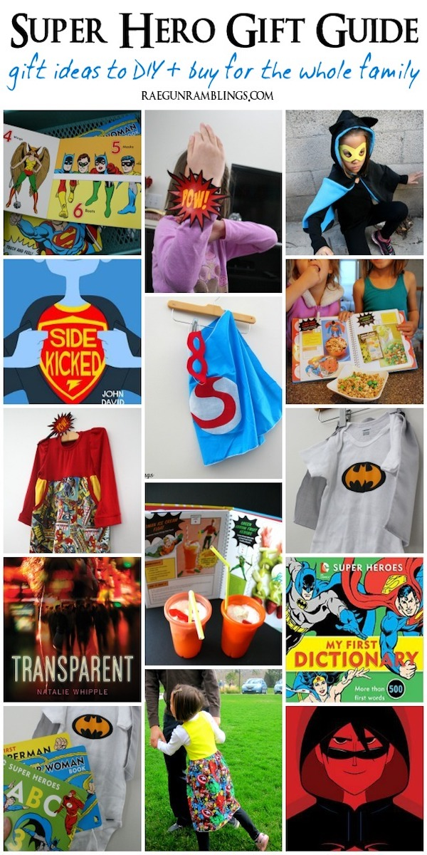 Great gift ideas for all the super hero lovers in the family