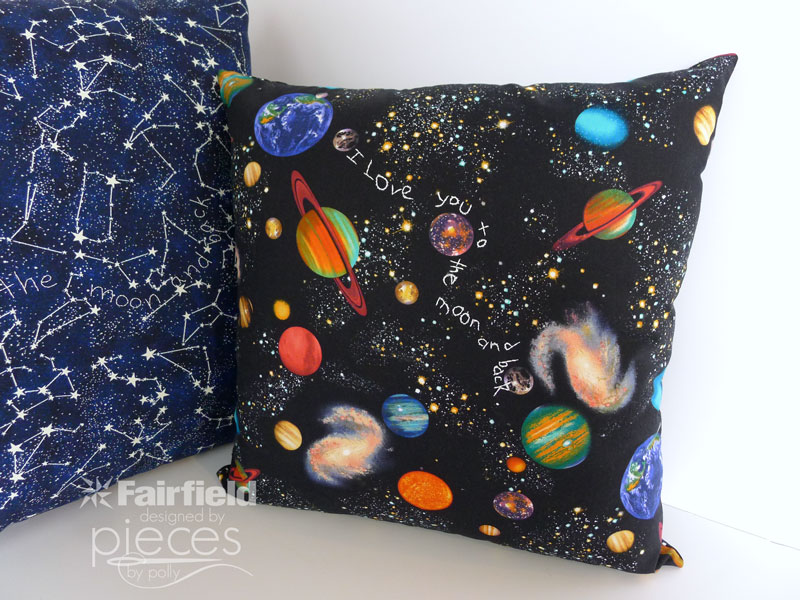 Love you to the moon and back pillows DIY