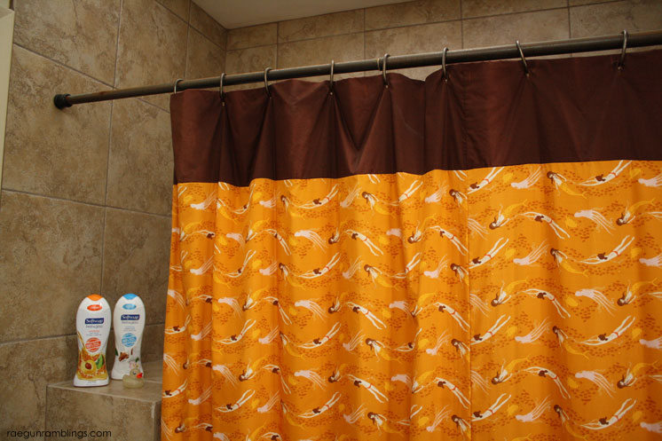 easiest non-ruffled shower curtain sewing tutorial