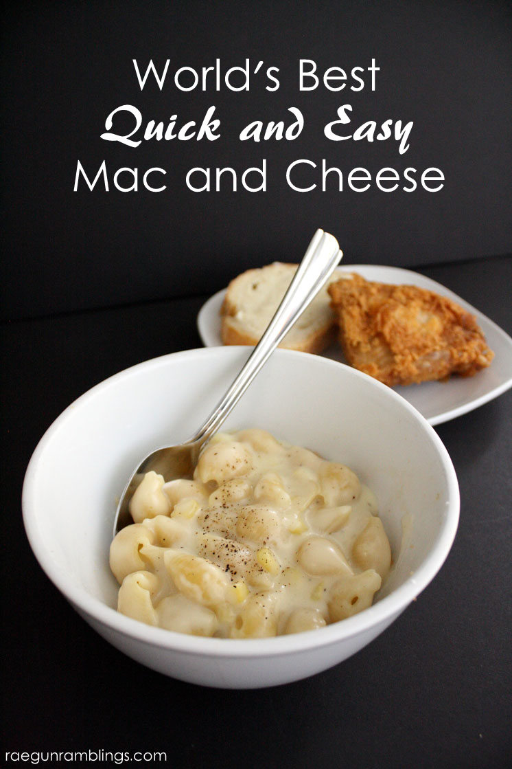 Hands down the best mac and cheese recipe. No weird ingredients, really fast and good.