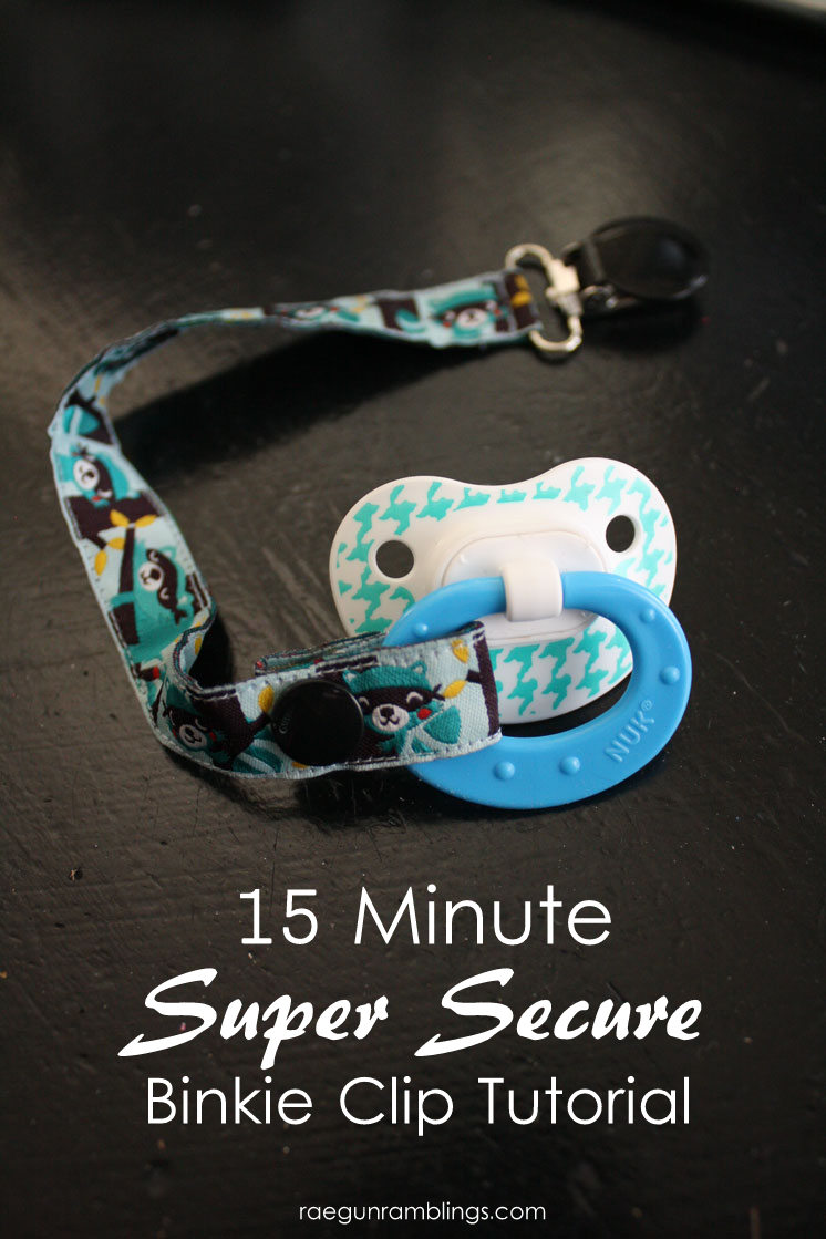 Finally a way to have non-ugly pacifier clips that baby can't pull off. Easy sewing tutorial.