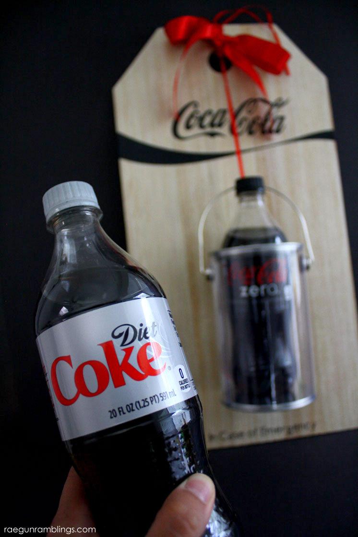 cutest gift idea for diet coke lovers. DIY emergency coke sign easy tutorial
