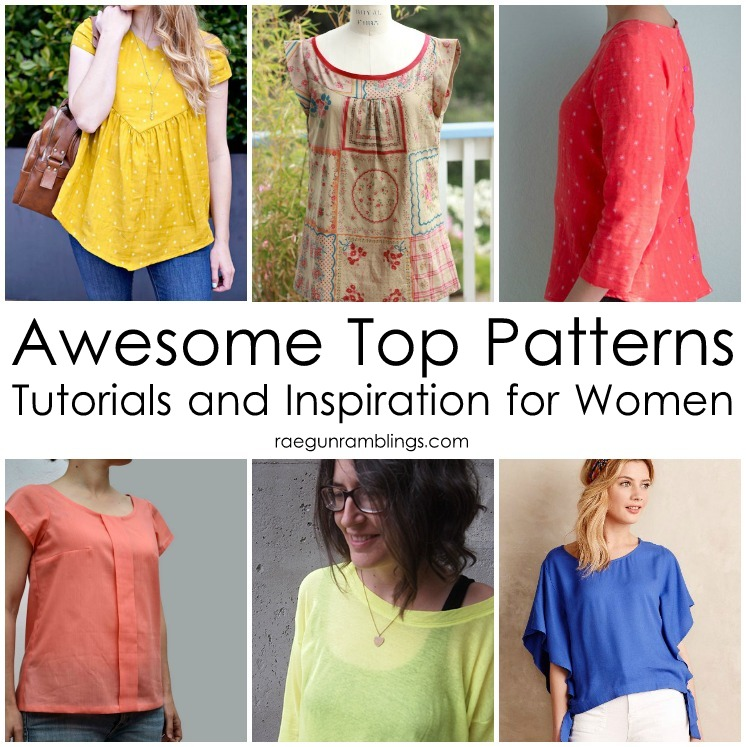 12 great top pattern, tutorials and inspiration to sew for women