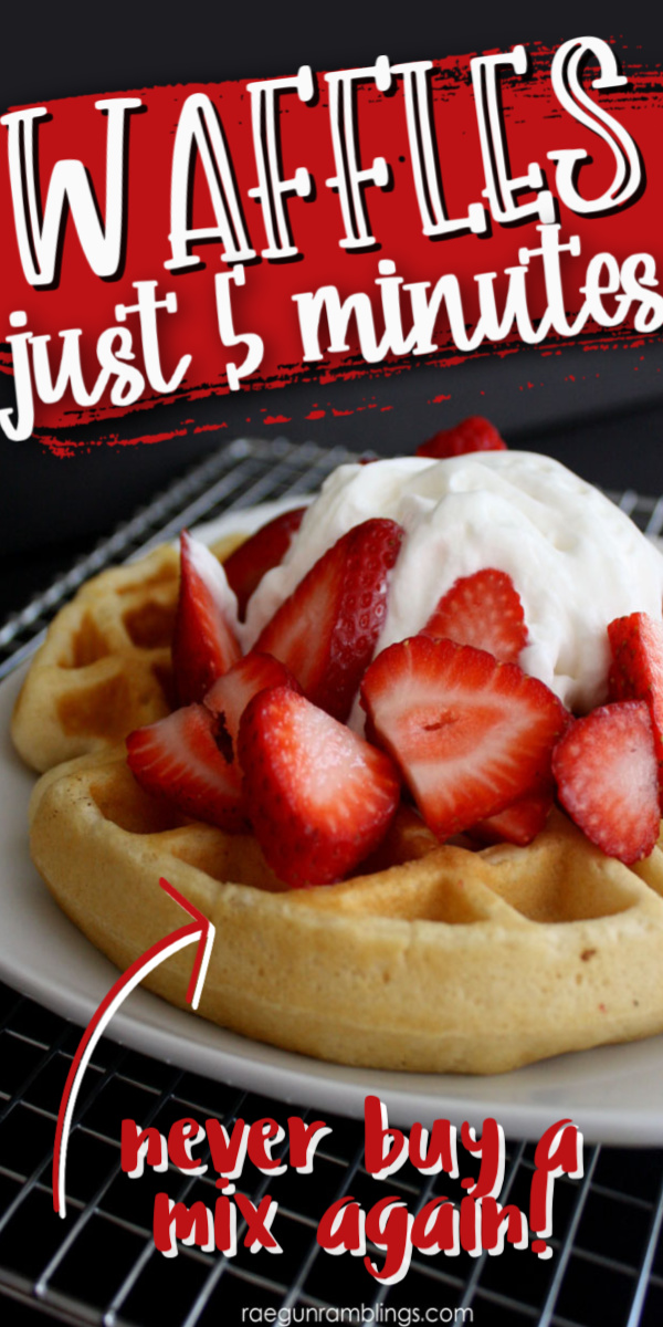 my new go to waffles recipe these are so fast and delicious way better than bisquick.
