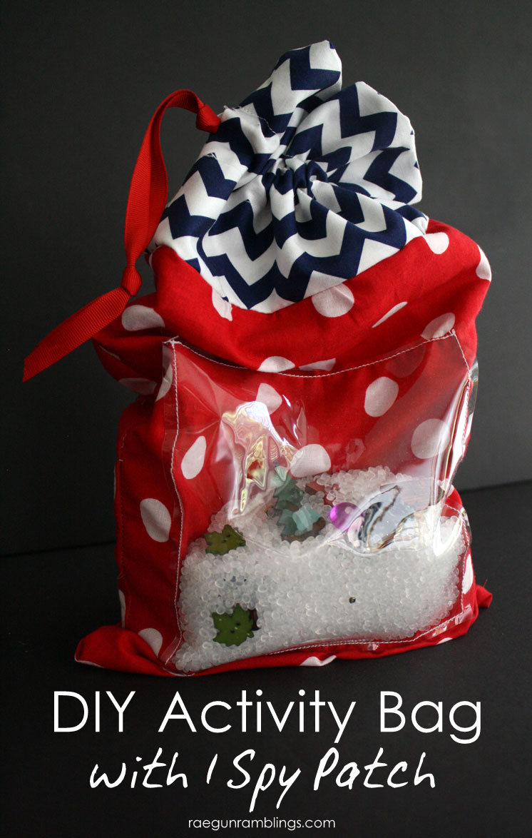 How to make an I SPY Activity bag. Great for Summer with kids.