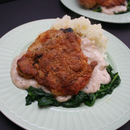 This oven fried chicken recipe is super good. Turns out great all the time. Perfect for dinner.