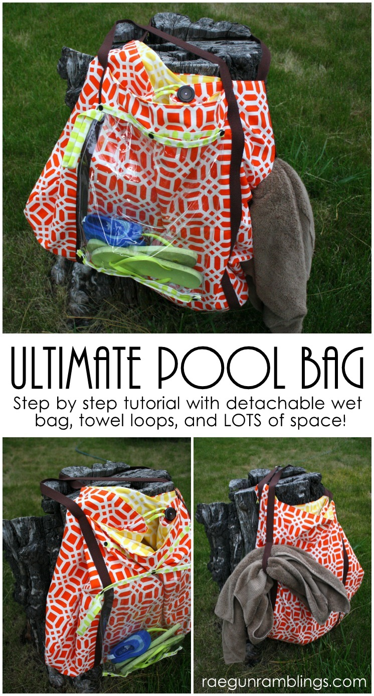 Awesome giant pool bag with free pattern.