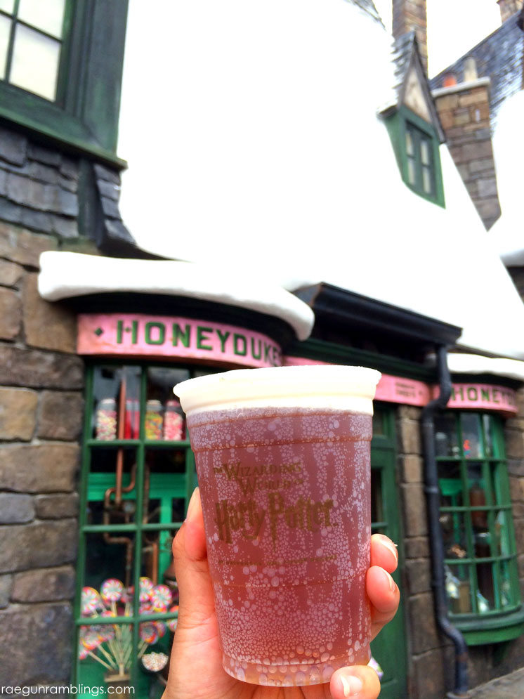 Regular (non-frozen) butterbeer. And what else to eat at the wizarding world of harry potter universal studios