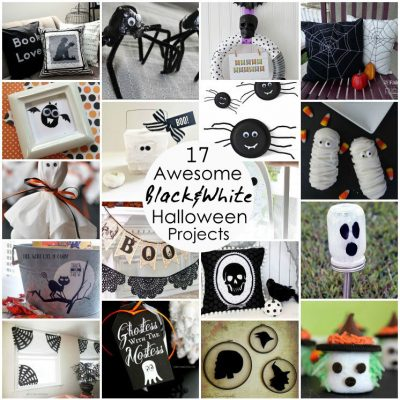 Black and White Halloween Projects and Block Party