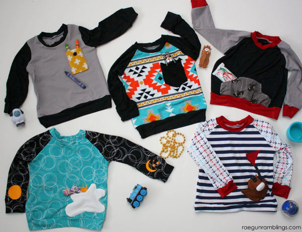5 fun and different pocket ideas to spruce up basic kid tees