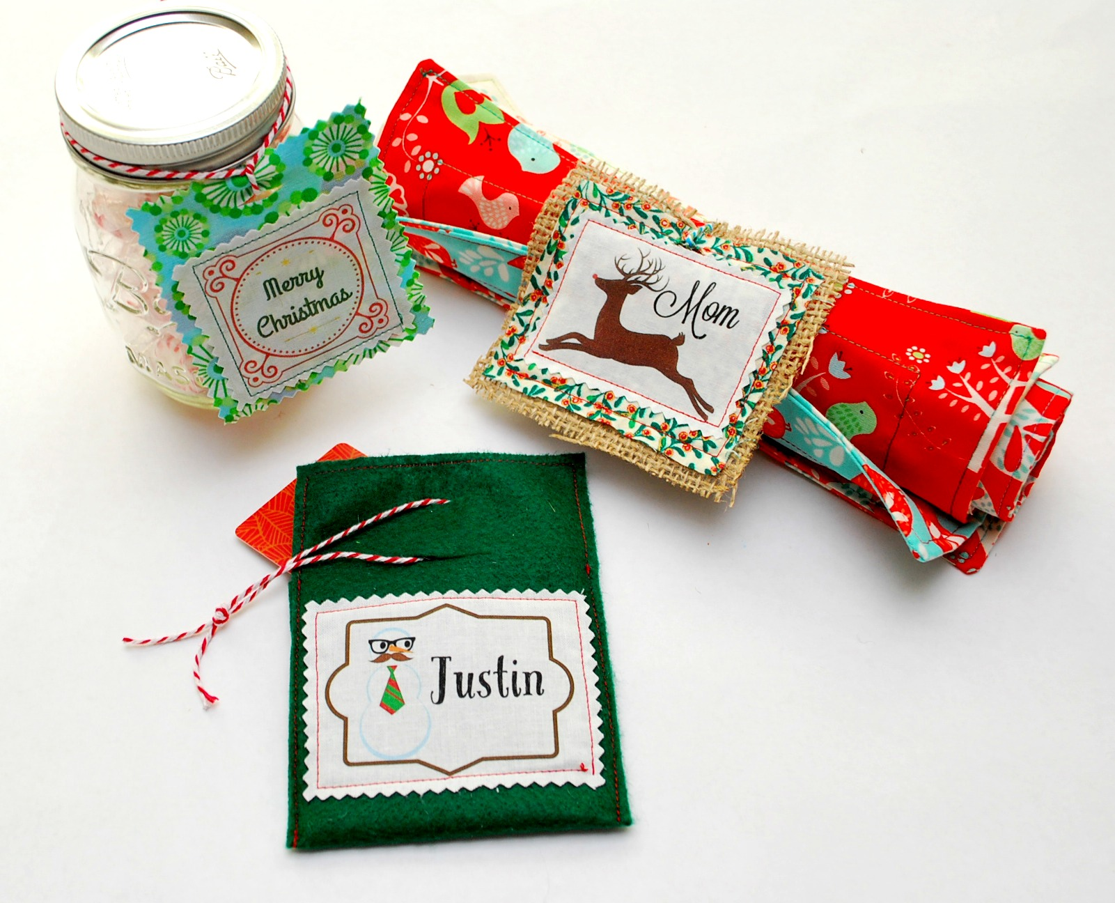 easy fabric gift tags and gift card holders
