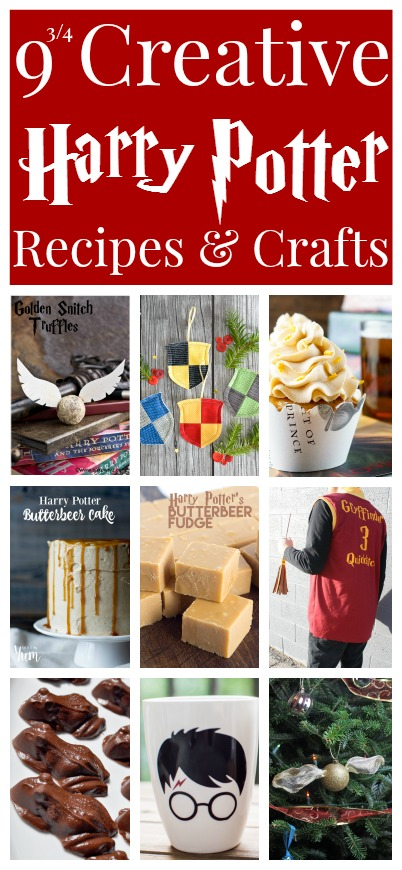 Awesome Harry Potter Recipes and Crafts. Great desserts, tutorials, and gift ideas