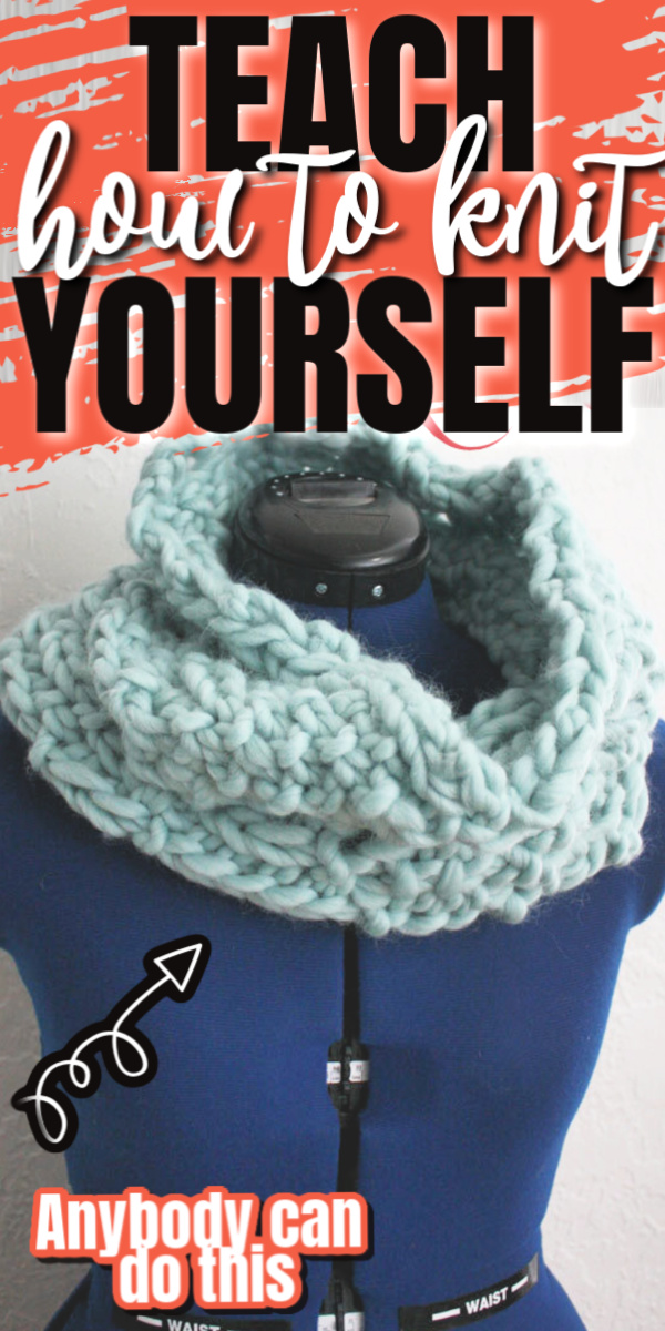 secret trick to teaching yourself how to knit