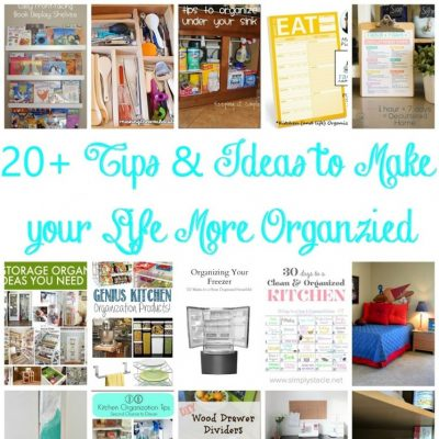 20 Ways to Get Organized and Block Party
