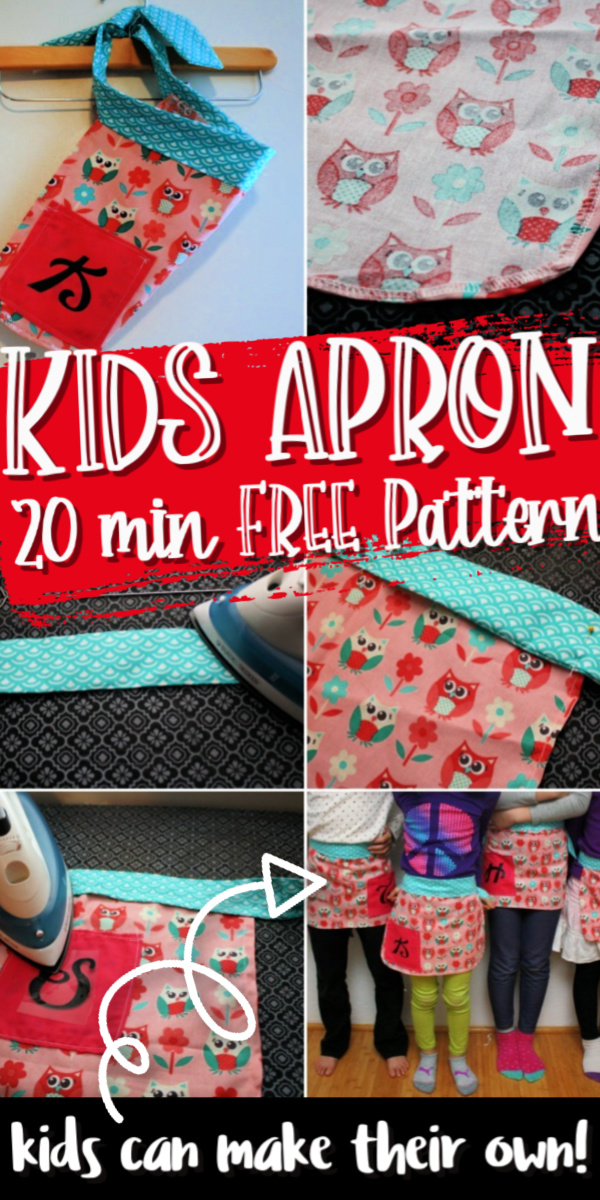 20 minute kids apron tutorial free sewing pattern