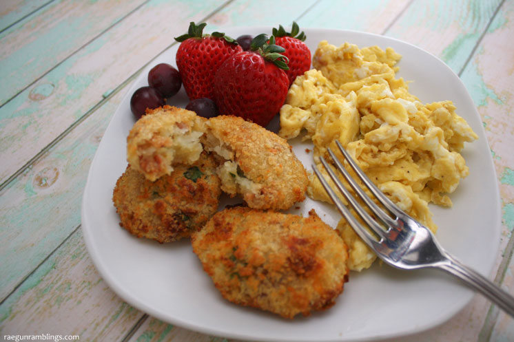 One of our new favorite brunch recipes. Bacon and cheese potato croquettes