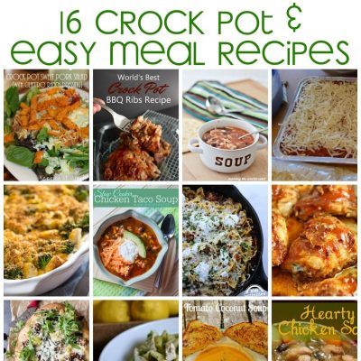 16 Crock Pot and Easy Recipes
